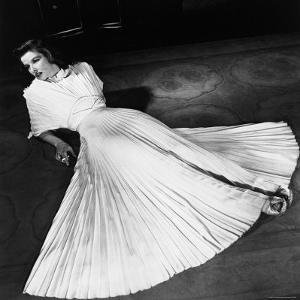 "Portrait of Actress Katharine Hepburn on the Broadway Set of ""The Philadelphia Story"" by Alfred Eisenstaedt"