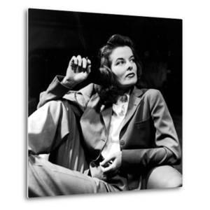 Portrait of Actress Katharine Hepburn with Cigarette in Hand by Alfred Eisenstaedt
