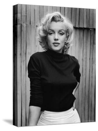 Portrait of Actress Marilyn Monroe on Patio of Her Home