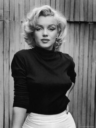 Portrait of Actress Marilyn Monroe on Patio of Her Home by Alfred Eisenstaedt