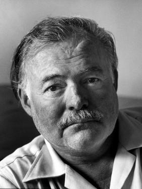 Portrait of Writer Ernest Hemingway by Alfred Eisenstaedt