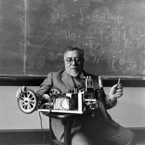 Professor Norbert Wiener, American Mathematician Founder of Cybernetics, Mit, Cambridge, MA, 1949 by Alfred Eisenstaedt