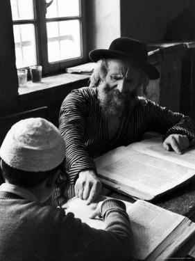 Rabbi Teaching the Talmud, the Basis For Much Jewish Law by Alfred Eisenstaedt