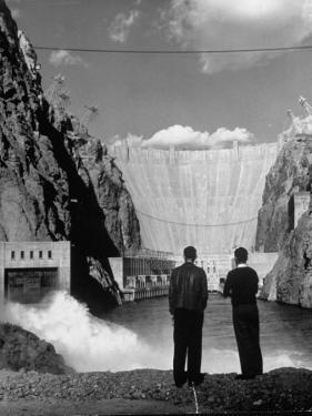 Sightseers Enjoying the Magnificent Power of Boulder Dam by Alfred Eisenstaedt