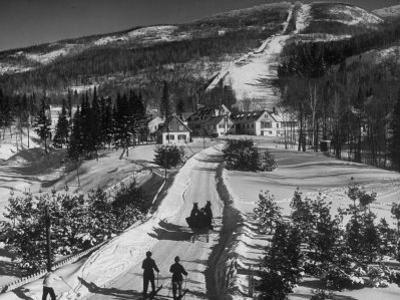 Ski Resort on Mont Tremblant in the Province of Quebec