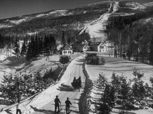 Ski Resort on Mont Tremblant in the Province of Quebec by Alfred Eisenstaedt