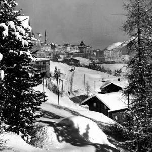 Snow-Covered Winter-Resort Village St. Moritz by Alfred Eisenstaedt