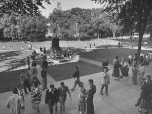 Students on Campus of Cornell University by Alfred Eisenstaedt
