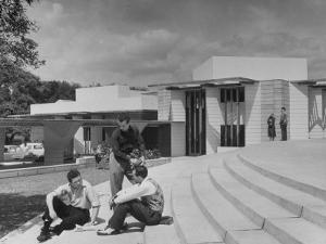Students on Campus of Florida Southern University Designed by Frank Lloyd Wright by Alfred Eisenstaedt