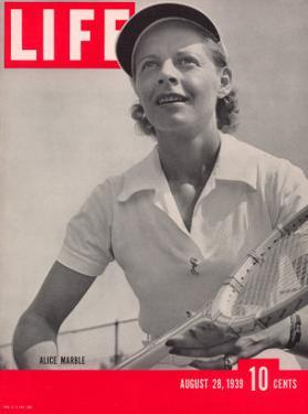 Tennis Champ Alice Marble, August 28, 1939 by Alfred Eisenstaedt