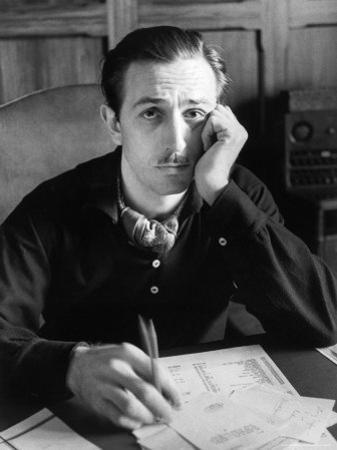 Walt Disney Sitting at His Desk
