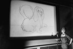Walt Disney Voice Artists Working on Feature Cartoon, the Lady and the Tramp, Burbank, CA, 1953 by Alfred Eisenstaedt