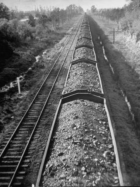 Wartime Railroading: Coal Cars of Freight Train of the Charleston and Western Carolina Line by Alfred Eisenstaedt