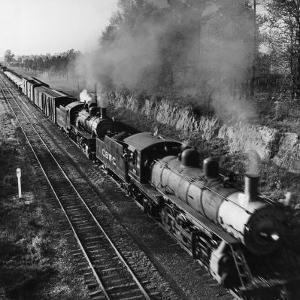 Wartime Railroading: Double-Header on Charleston-Western Carolina Line by Alfred Eisenstaedt