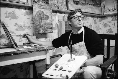 William F. Buckley Painting at the Buckley Estate, 1970