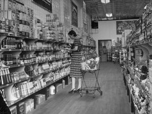 Woman Shopping in A&P Grocery Store by Alfred Eisenstaedt