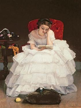 Girl Reading by Alfred Emile Léopold Stevens