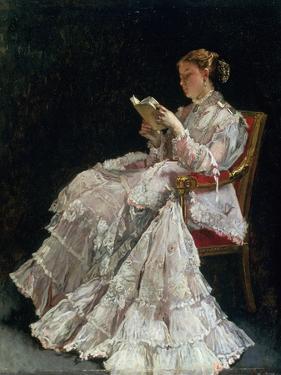 The Reader, C.1860 by Alfred Emile Léopold Stevens