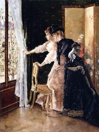 Watching the Fiance Pass By, 1886