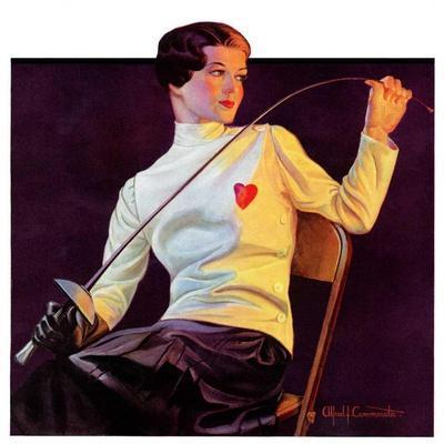 """""""Female Fencer,""""April 1, 1933"""