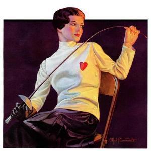 """""""Female Fencer,""""April 1, 1933 by Alfred F. Cammarata"""