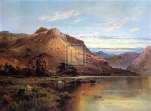 Lakeside Rendezvous the Kirk at Arrochar by Alfred Fontville de Breanski