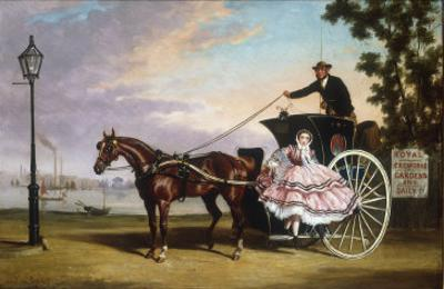 Alighting from a Coach near Cremorne Gardens by Alfred Frank De Prades
