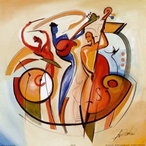 Blues Club IV by Alfred Gockel