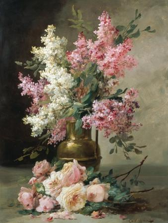 Roses and Lilies by Alfred Godchaux