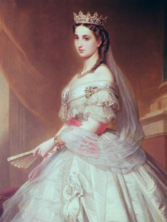 Portrait of Charlotte of Saxe-Cobourg-Gotha Princess of Belgium and Empress of Mexico