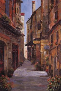 Village Alleyway by Alfred Herbert
