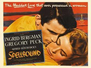 """Alfred Hitchcock's Spellbound, 1945, """"Spellbound"""" Directed by Alfred Hitchcock"""