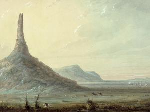 Chimney Rock, 1837 by Alfred Jacob Miller