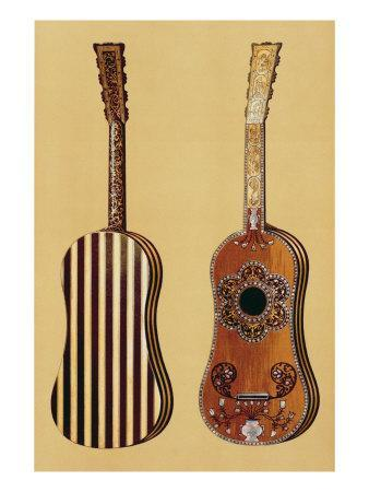 Guitar Inlaid with Mother-of-pearl, from 'Musical Instruments'