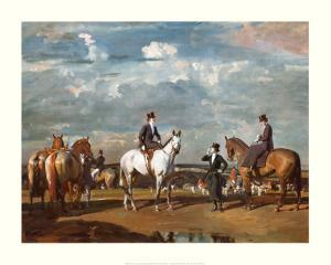 Why Weren't You Out Yesterday? by Alfred James Munnings