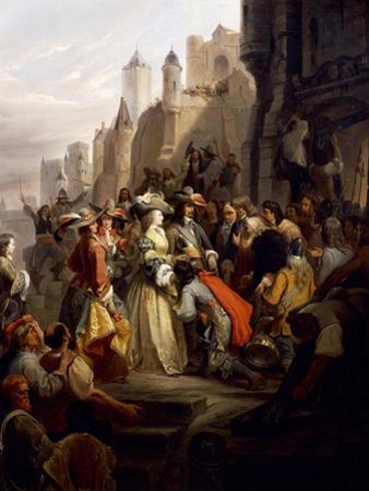 Mademoiselle De Montpensier Entering Orleans During Fronde by Alfred Johannot