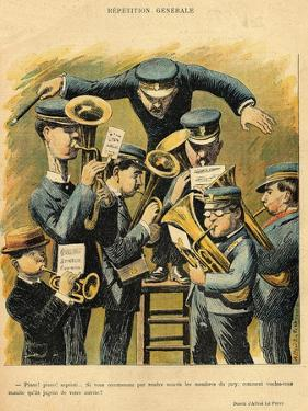 Band Rehearsal, from the Back Cover of 'Le Rire', 16th April 1898 by Alfred Le Petit