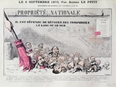 Defense De Deposer Des Immondices Le Long De Ce Mur, Caricature of Second Empire Politicians