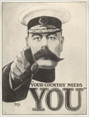 Your Country Needs You, Featuring Lord Kitchener by Alfred Leeze