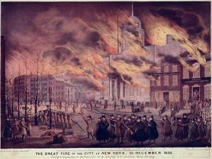 The Great Fire of New York, 1835 by Alfred M. Hoffy