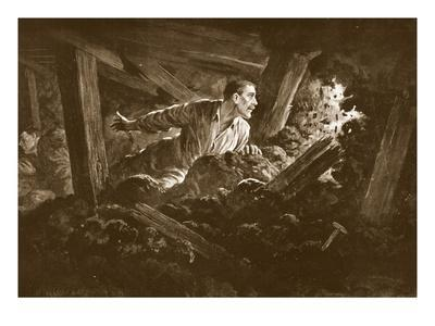 Sapper W. Hackett Refuses to Leave a Comrade Who Was Lying Seriously Injured in a Mine Gallery