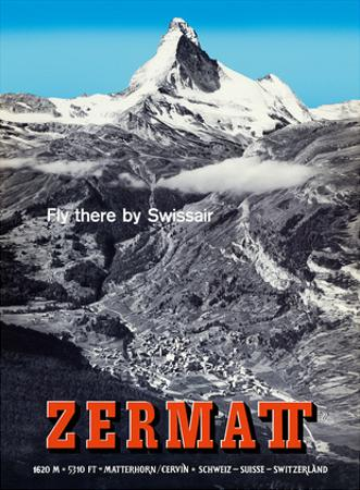 Zermatt, Switzerland - Matterhorn (Mont Cervin) - Swiss Alps - Fly there by SwissAir by Alfred Perren-Barberini