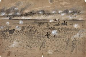 Battle Of Fredericksburg by Alfred R. Waud