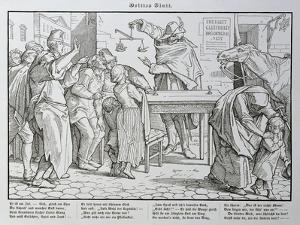 Death before the Public House, from 'Another Dance of Death' Published by Georg Wigand in… by Alfred Rethel