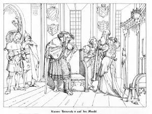 Hammerstein, the Asylum of Emperor Henry IV by Alfred Rethel