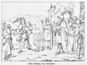 Knight John Bromser of Rudesheim, Engraved by J. Dielmann by Alfred Rethel