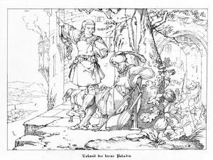Roland, the Faithful Paladin, Engraved by J. Dielmann by Alfred Rethel