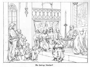 Saint Adelhaid by Alfred Rethel