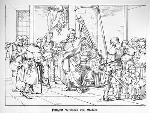 The Count Palatine Herrmann of Staleck by Alfred Rethel