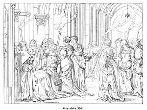 The Death of Henry of Meissen, Named Frauenlob by Alfred Rethel